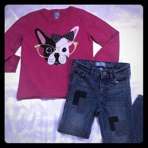 """Gap """"Dog In Glasses"""" sweater and jeans outfit 5"""